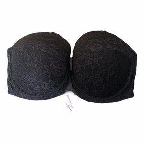 TORRID black lace strapless bra 44DD (44E)